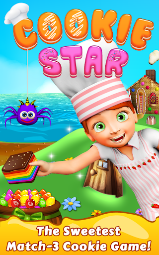 Cookie Star: Sugar cake puzzle match-3 game apktram screenshots 17