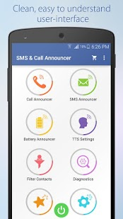 Speaking SMS & Call Announcer- screenshot thumbnail