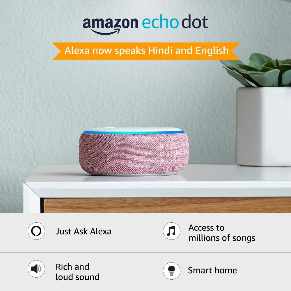 echo dot smart speaker with Alexa Charcoal