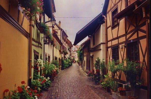 Eguisheim in un giorno di pioggia di lady oscar