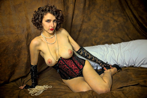 by Todd Yoder - Nudes & Boudoir Boudoir ( boudoir, backdrop, pearls, pillow, necklace, nude, female )