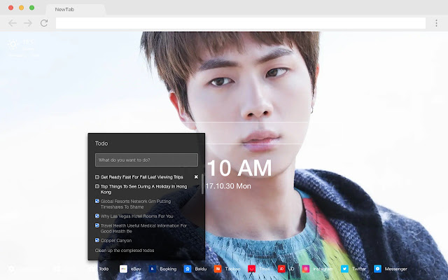Jin Pop Star HD Wallpapers New Tabs Theme