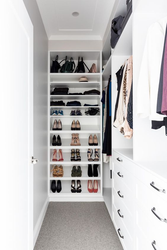 Shoes and Bags Shelving for Small Walk-in Closet Ideas