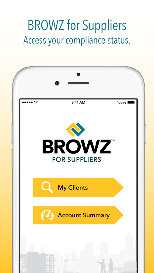 BROWZ for Suppliers- screenshot