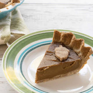Vegan Pumpkin Pie with a Teff Flour Pecan Crust.