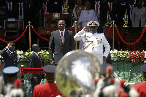Second time: President Uhuru Kenyatta attends an inauguration ceremony in Nairobi, Kenya, on Tuesday. His rival, Raila Odinga, boycotted the election rerun, saying it would not be free or fair. Picture: REUTERS