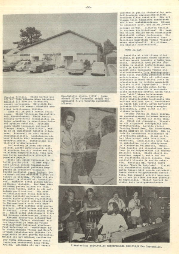 Blues News 6/1975-sivu