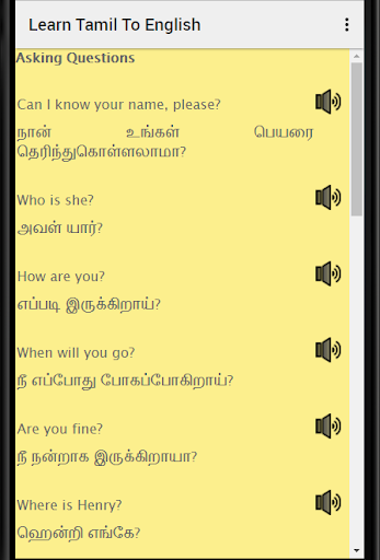 Learn English in Tamil : English Speaking in Tamil - Apps on