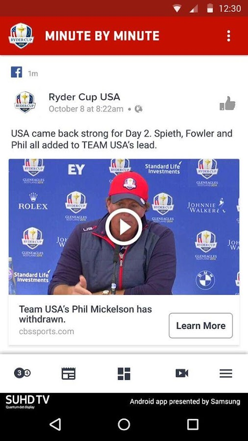 Ryder Cup 2016- screenshot