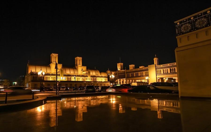 Gold Souq by Rajesh Loganathan - City,  Street & Park  Markets & Shops ( reflection, market, street, classic building, night )