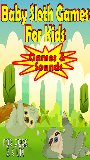 sloth games for kids: free