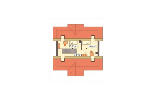 Angela wersja B bez garażu - Poddasze - propozycja zagospodarowania