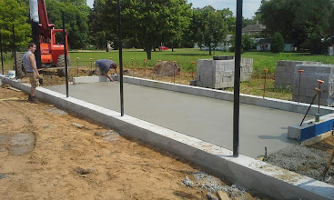 Photo: 1st Base Dugout Concrete Slab 08-05-2014