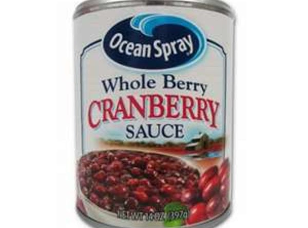 Stir together Crandberry sauce and onion soup mix in a small bowl. Heat in...
