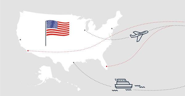 Доставка c США