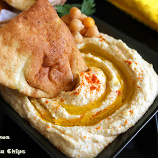 Hummus + Baked Pita Chips