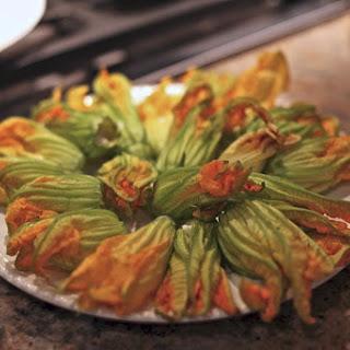 Stuffed Fried Zucchini Blossoms