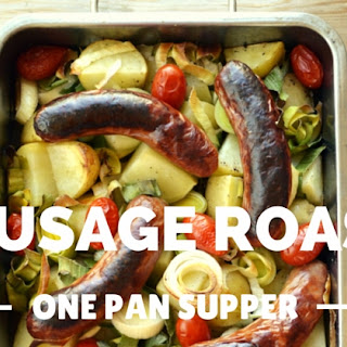 Sausage Roast with Potato and Leek