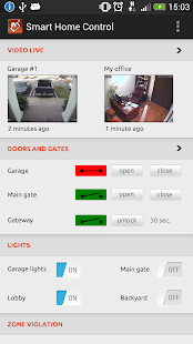 Smart home remote control- screenshot thumbnail
