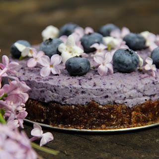 Blueberry Chia Seed Cashew Cake.