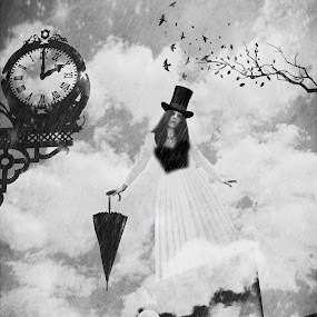 Lost in time by Heather G - Digital Art People ( blackandwhite fantasy surreal )
