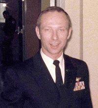 """Photo: 18th Commanding Officer for VT-25, '79-80 Commander W.R. Alcorn. Photo taken by Airman Paul Lareau, '78  CMDR. Alcorn was shot down Dec. 22. 1965 over North Vietnam and was a POW for a long time. He had extensive scars all over his back where he was """"butchered"""" by the enemy troops, in an attempt to get information. Cmdr. Alcorn would have given his life before giving them any information."""