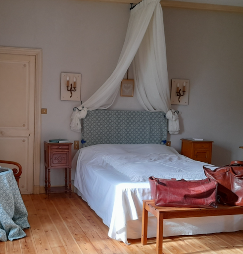 Charming bedrooms for couples and families at guest house clos de la garenne on french atlantic coast
