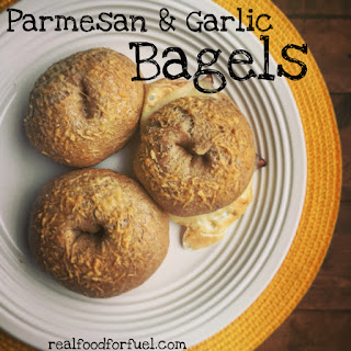 Parmesan Garlic Homemade Bagels + Tutorial Video