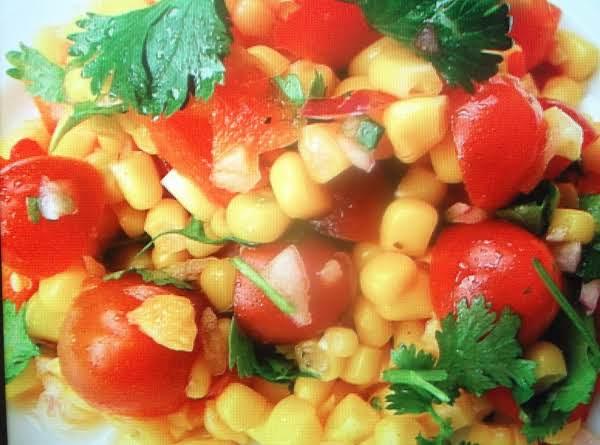 Corn And Tomato Salad With Lemon Dressing