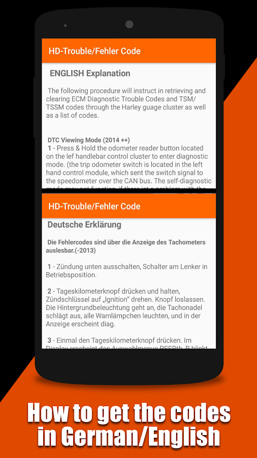 hd trouble code detection dtc harley davidson - android apps on