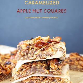 Gluten-Free Vegan Caramelized Apple Nut Squares {also Paleo}