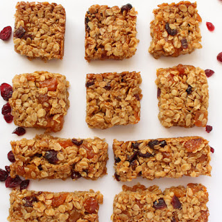 Apricot, Cranberry & Orange Flapjacks.
