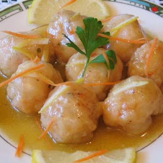 Shrimp Balls In Lemon Sauce