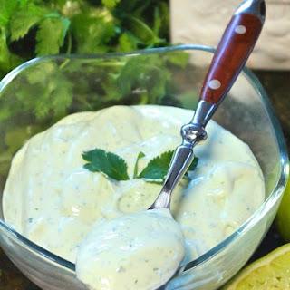 Avocado Cream Sauce.