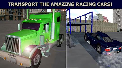 汽车运输货物的卡车3D