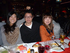Photo: Beijing - TB dinner in russian restaurant Elephant,CN Sherry and team leader Ivan and former team leader Bai Lin