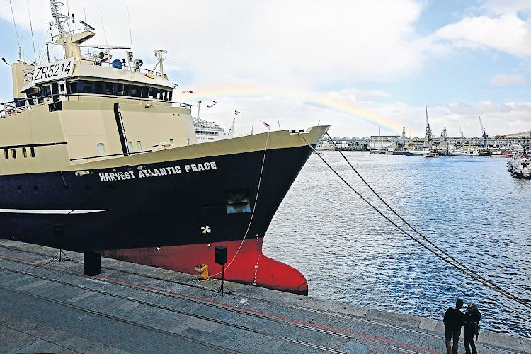 The refurbished Harvest  African Peace, a trawler for fisheries company  Sea Harvest. Picture: THE TIMES/HALDEN KROG