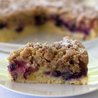 Blueberry Rhubarb Streusel Cake Recipe