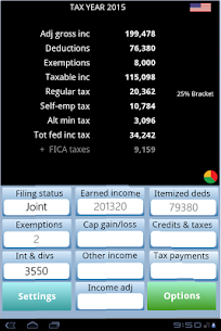 TaxMode: income tax calculator & planner for USA App Download For Android and iPhone 9