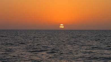 Photo: Sunset over the Gulf of Mexico on our trip back to Naples via catamaran.