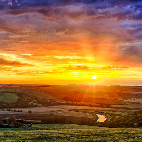 Sussex Sunset by Paul Jenking - Landscapes Sunsets & Sunrises