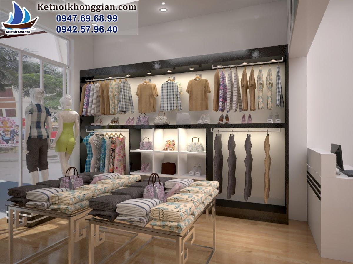thiết kế cửa hàng thời trang giá rẻ chất lượng cao, thiết kế shop giá rẻ