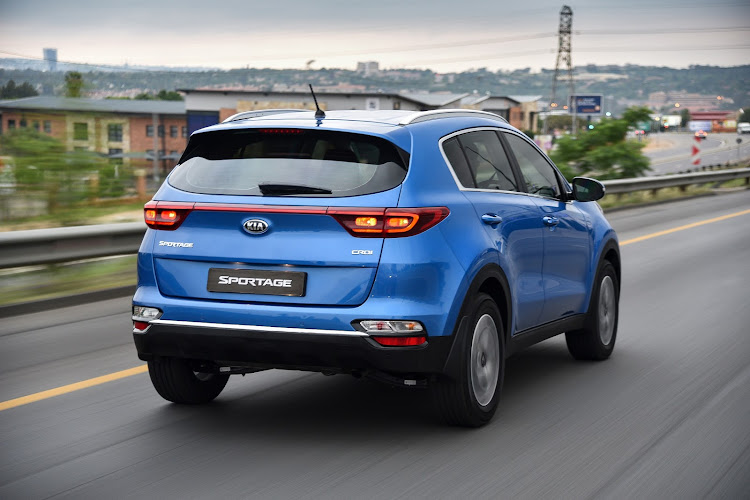 Sportage rear styling sees introduction of a new connecting strip between rear light clusters Picture: SUPPLIED