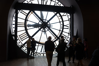 Photo: One of the giant clocks seen from the inside