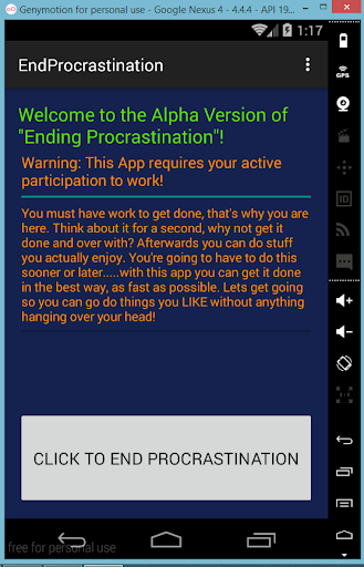 End Procrastination