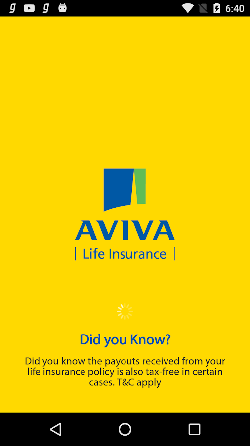 Aviva Life Insurance- screenshot
