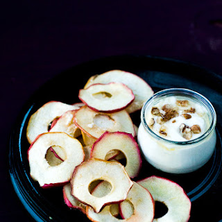 Apple Chips with Greek Yogurt Dip.