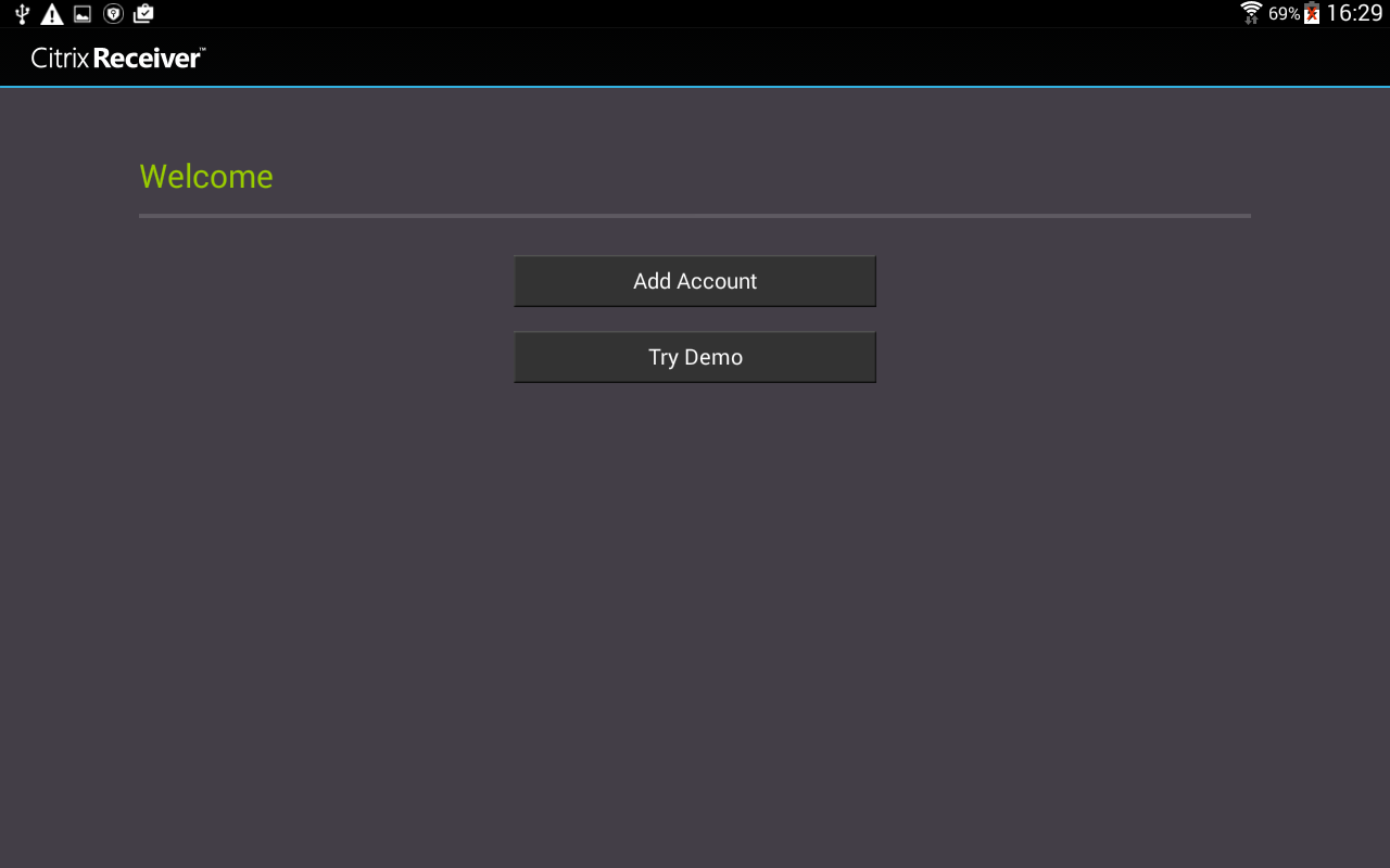 Citrix Receiver – Screenshot