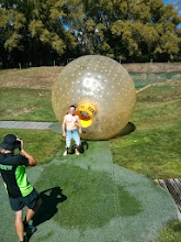 Photo: Zorbing: rolling down a hill in a big, wet, inflatable ball. A super fun 60 seconds, and another quick way to spend a lot of money.
