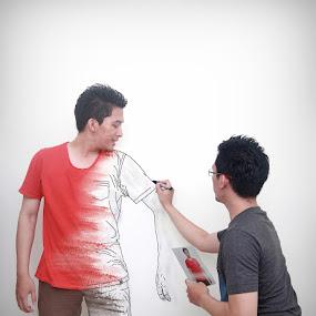 drawing my self by Geets Pristyagi - Digital Art People